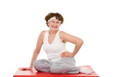 Happy senior sport woman Royalty Free Stock Images