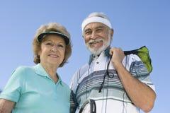 Happy Senior Tennis Players Stock Photos