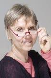 Happy senior wearing glasses Stock Photography