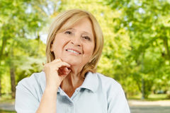 happy senior woman Royalty Free Stock Image