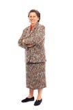 Happy senior woman Stock Photos