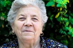 Happy senior woman. Portrait of happy senior woman Stock Photography
