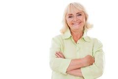 Happy senior woman. Stock Image