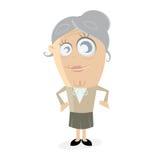 Happy senior woman. Clipart of a happy senior woman Stock Photos