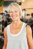 Happy senior woman at the gym Stock Photography