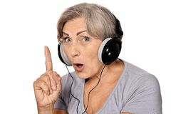 Happy senior woman Stock Photography