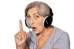 Happy senior woman Stock Photography