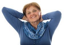 A happy senior woman - over sixty years old Stock Photos
