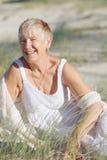 Happy senior woman Stock Images