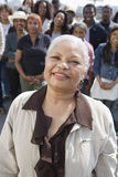 Happy Senior Woman Standing Royalty Free Stock Photos