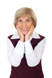 Happy senior woman with toothy smile Stock Photography