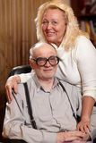 Happy seniors couple in love at home. This image has attached release stock photography