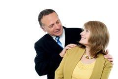 Happy seniors couple in love Royalty Free Stock Photos