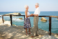 Happy seniors on holidays Royalty Free Stock Image