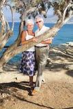 Happy seniors on holidays Royalty Free Stock Image