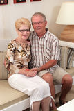 Happy seniors at home royalty free stock images