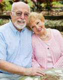 Happy Seniors In Love Stock Photo