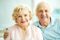 Happy seniors Stock Images