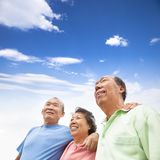 Happy seniors standing together Royalty Free Stock Photography