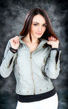 Happy sensual woman posing Stock Images