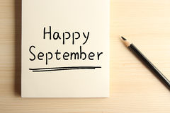 Happy September Royalty Free Stock Photo