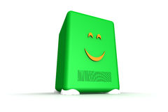 Happy server. Server-like object showing a happy face Stock Photo