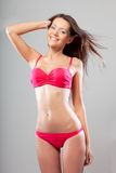Happy sexual hot woman wearing bikini Stock Photos