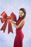Happy sexy christmas woman Royalty Free Stock Photo