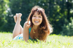 Happy sexy  woman Stock Images
