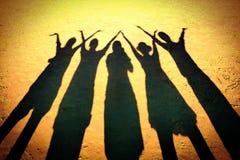 Happy shadow Stock Image