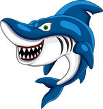 Happy shark cartoon Stock Image