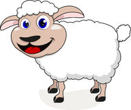 Happy sheep. Illustration Of Happy Cute Sheep Standing Royalty Free Stock Photography
