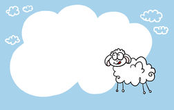 Happy sheep background Stock Image