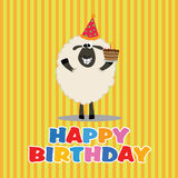 Happy sheep Royalty Free Stock Photo