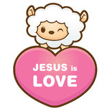 Happy sheep character. Angel Character Design Series. Stock Images