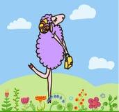 Happy sheep Stock Photo