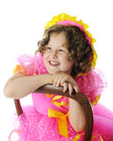 Happy Shirley Temple Impersonator Stock Image
