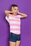 Happy Shocked Girl Stock Photos
