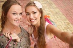 Happy Shopagolics Stock Photos