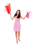 Happy shopaholic Stock Images