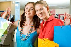 Happy shopaholics Stock Photography