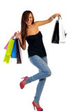 Happy shopper Stock Images