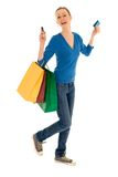 Happy shopper Royalty Free Stock Image