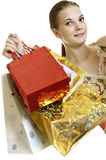 Happy shopper Stock Photography