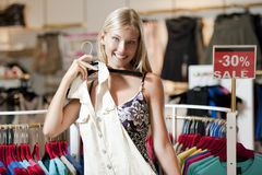 Happy shopper! Royalty Free Stock Photography