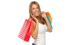 Happy shopper Stock Photo