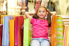 Happy shopper Stock Images