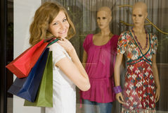 Happy shopper Stock Image
