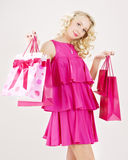 Happy shopper Royalty Free Stock Images
