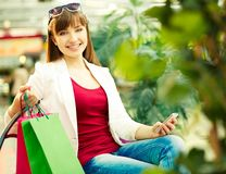 Happy shopper Stock Photo